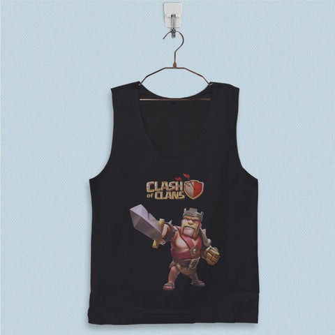 Men's Basic Tank Top - Clash of Clans Barbarian King