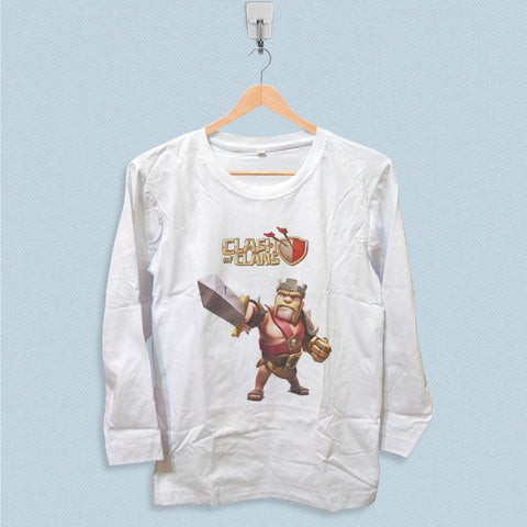 Long Sleeve T-shirt - Clash of Clans Barbarian King