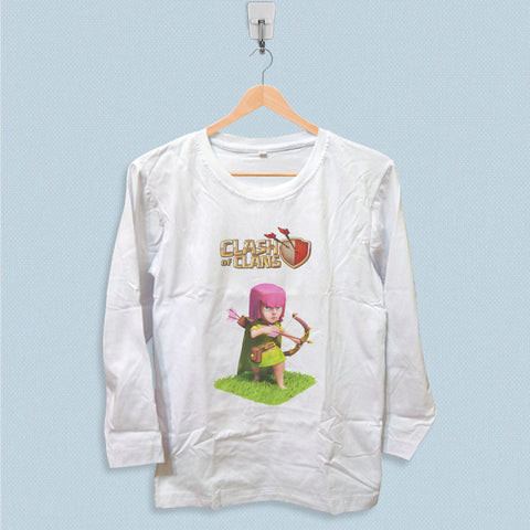 Long Sleeve T-shirt - Clash of Clans Girl Archer