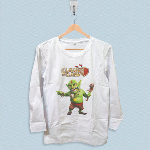 Long Sleeve T-shirt - Clash of Clans Goblin King