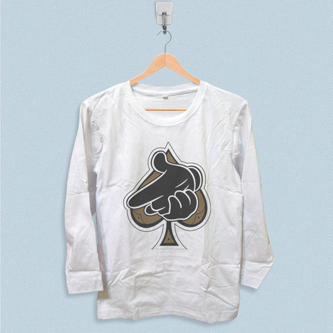 Long Sleeve T-shirt - Crooks Castles Air Gun Spades