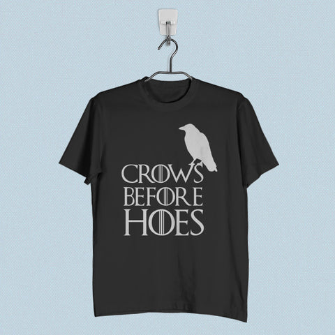 Men T-Shirt - Crows Before Hoes Game of Thrones