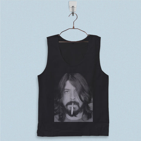 Men's Basic Tank Top - Dave Grohl Smoking