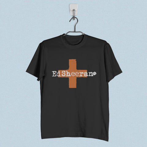 Men T-Shirt - Ed Sheeran Cross Logo