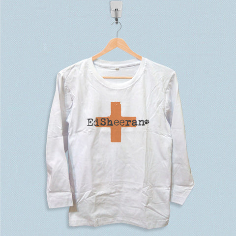 Long Sleeve T-shirt - Ed Sheeran Cross Logo