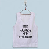Men's Basic Tank Top - Eminem Shady Detroit vs Everybody