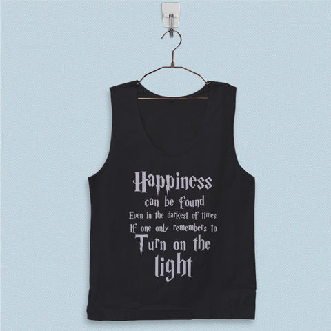 Men's Basic Tank Top - Harry Potter Quotes Happiness Can be Found Even in The Darkest of Times If One Remembers