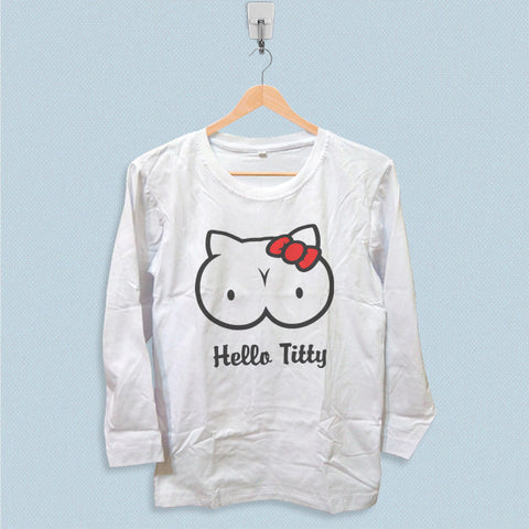 Long Sleeve T-shirt - Hello Titty