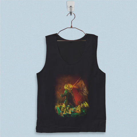 Men's Basic Tank Top - Helloween Straight Out of Hell