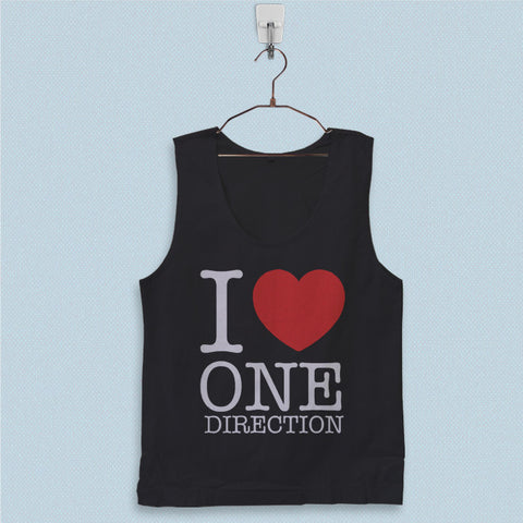 Men's Basic Tank Top - I Love One Direction