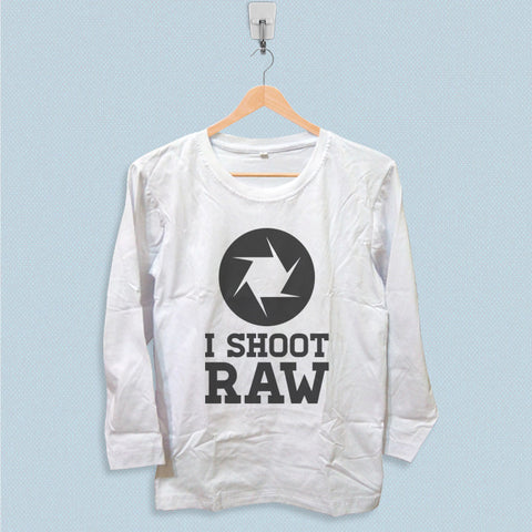 Long Sleeve T-shirt - I Shoot Raw
