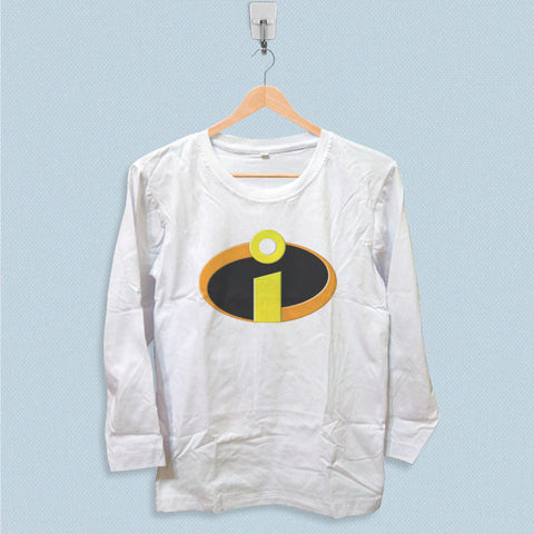 Long Sleeve T-shirt - Incredibles Logo Superhero