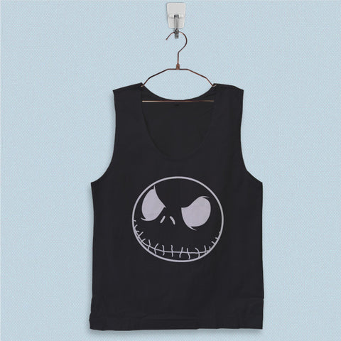 Men's Basic Tank Top - Jack Skellington Head Pumpkin King Halloween