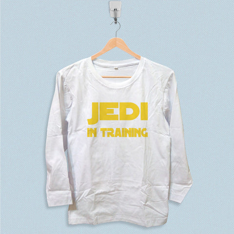 Long Sleeve T-shirt - Jedi in Training Cool Star Wars