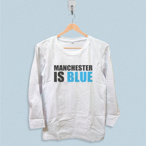 Long Sleeve T-shirt - Manchester is Blue