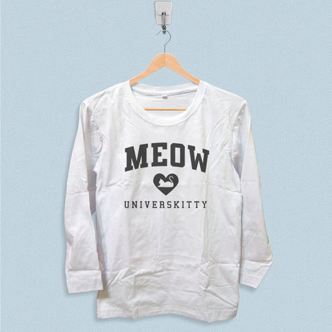 Long Sleeve T-shirt - Meow Universkitty Cat