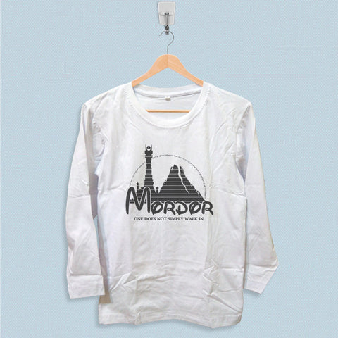 Long Sleeve T-shirt - Mordor Hobbit Parody Logo