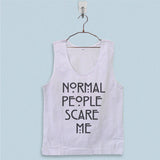Men's Basic Tank Top - Normal People Scare Me