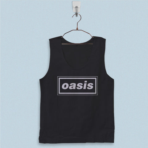 Men's Basic Tank Top - Oasis Logo