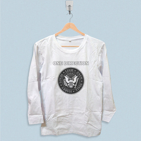 Long Sleeve T-shirt - One Direction Ramones Logo