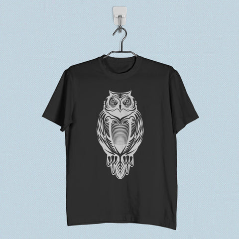 Men T-Shirt - Owl Tribal Tattoo