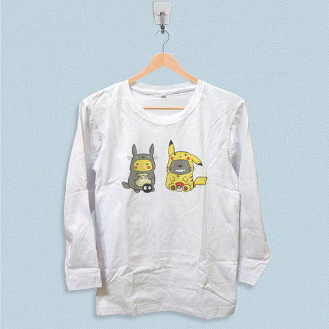 Long Sleeve T-shirt - Pikachu Totoro