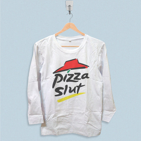 Long Sleeve T-shirt - Pizza Hut Pizza Slut Logo
