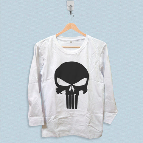 Long Sleeve T-shirt - Punisher Skull