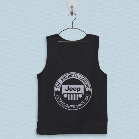 Men's Basic Tank Top - The American Legend Jeep Logo