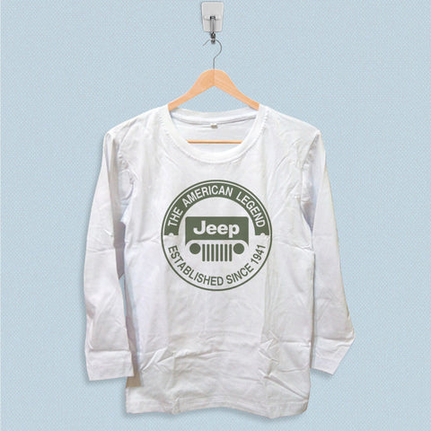 Long Sleeve T-shirt - The American Legend Jeep Logo