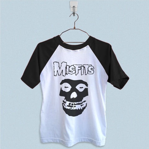 Raglan T-Shirt - The Misfits Skull Face