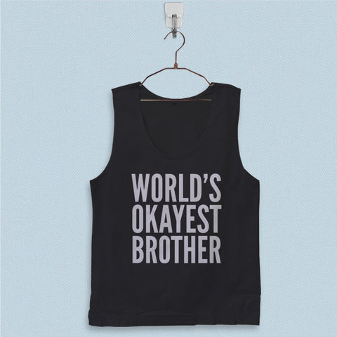 Men's Basic Tank Top - Worlds Okayest Brother