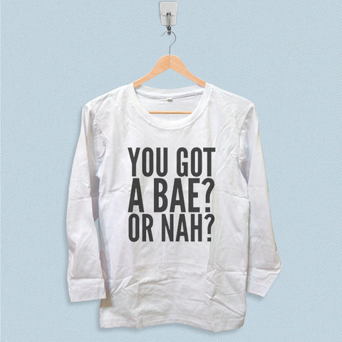 Long Sleeve T-shirt - You Got A Bae or Nah Magcon Boys