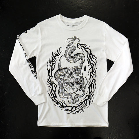 Skull and Snake LS Tee Scott Move x Parliament Tattoo