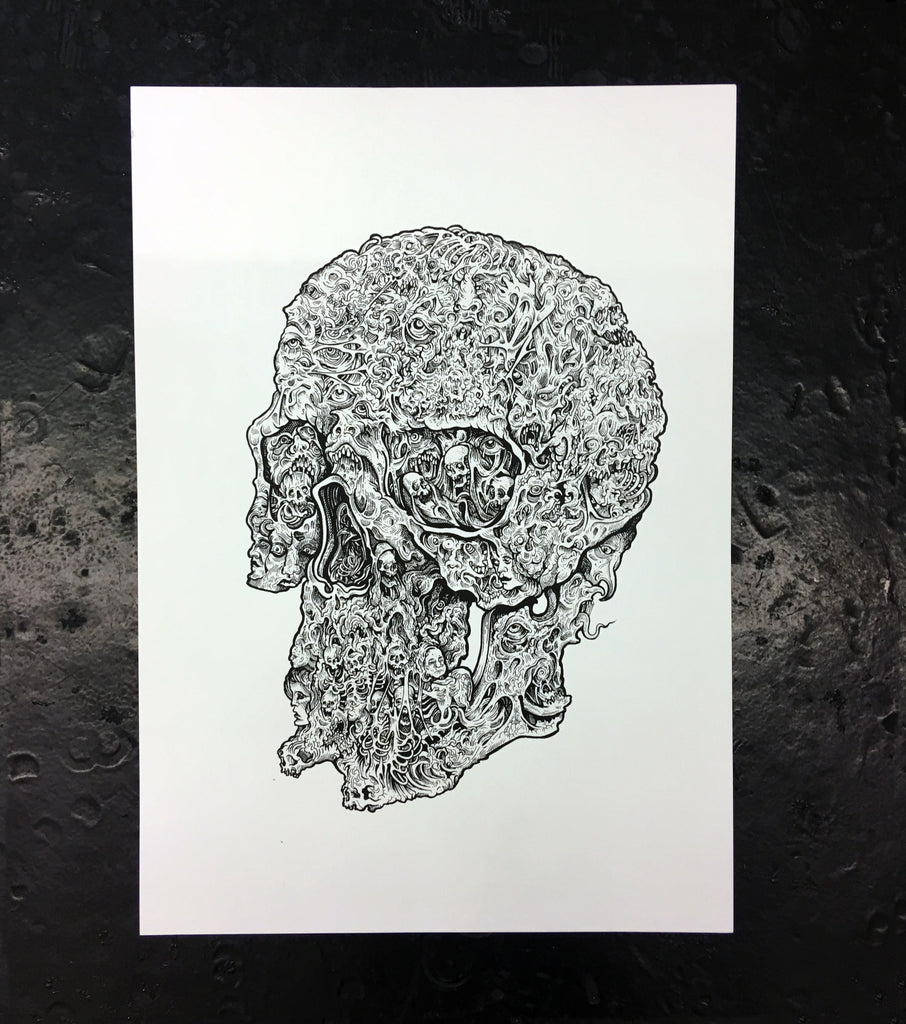 Scott Move Skull Screen Print - Limited Run