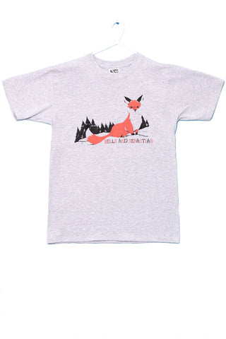 Men's grey 'Fox In The Snow' t-shirt