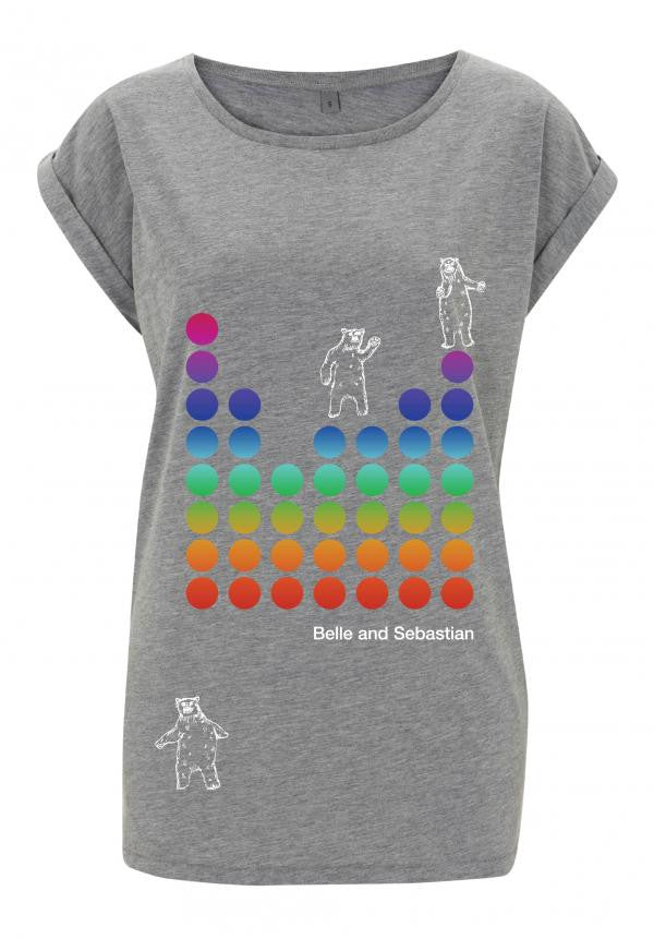 Ladies grey 'Dancing Bears' t-shirt