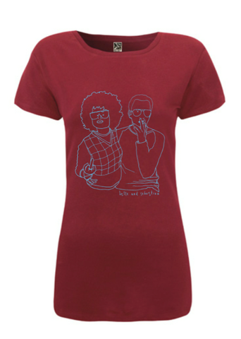 * ON SALE  * Ladies Burgundy 'Couple' T-shirt
