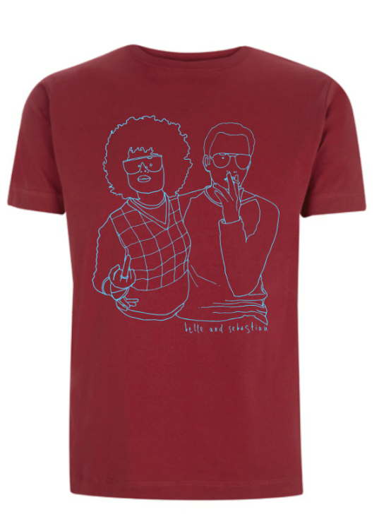 Men's Burgundy 'Couple' T-Shirt