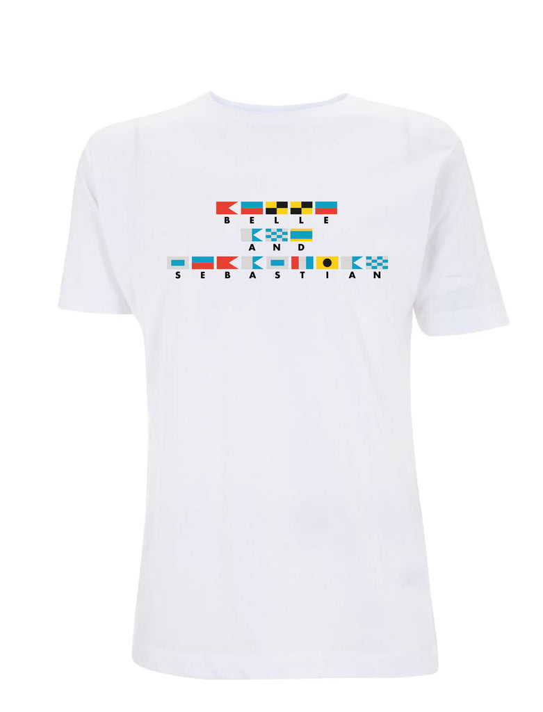 Ladies White 'Nautical Flags' T-Shirt