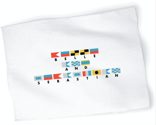 Nautical Flags Tea Towel