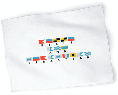 * ON SALE * Nautical Flags Tea Towel