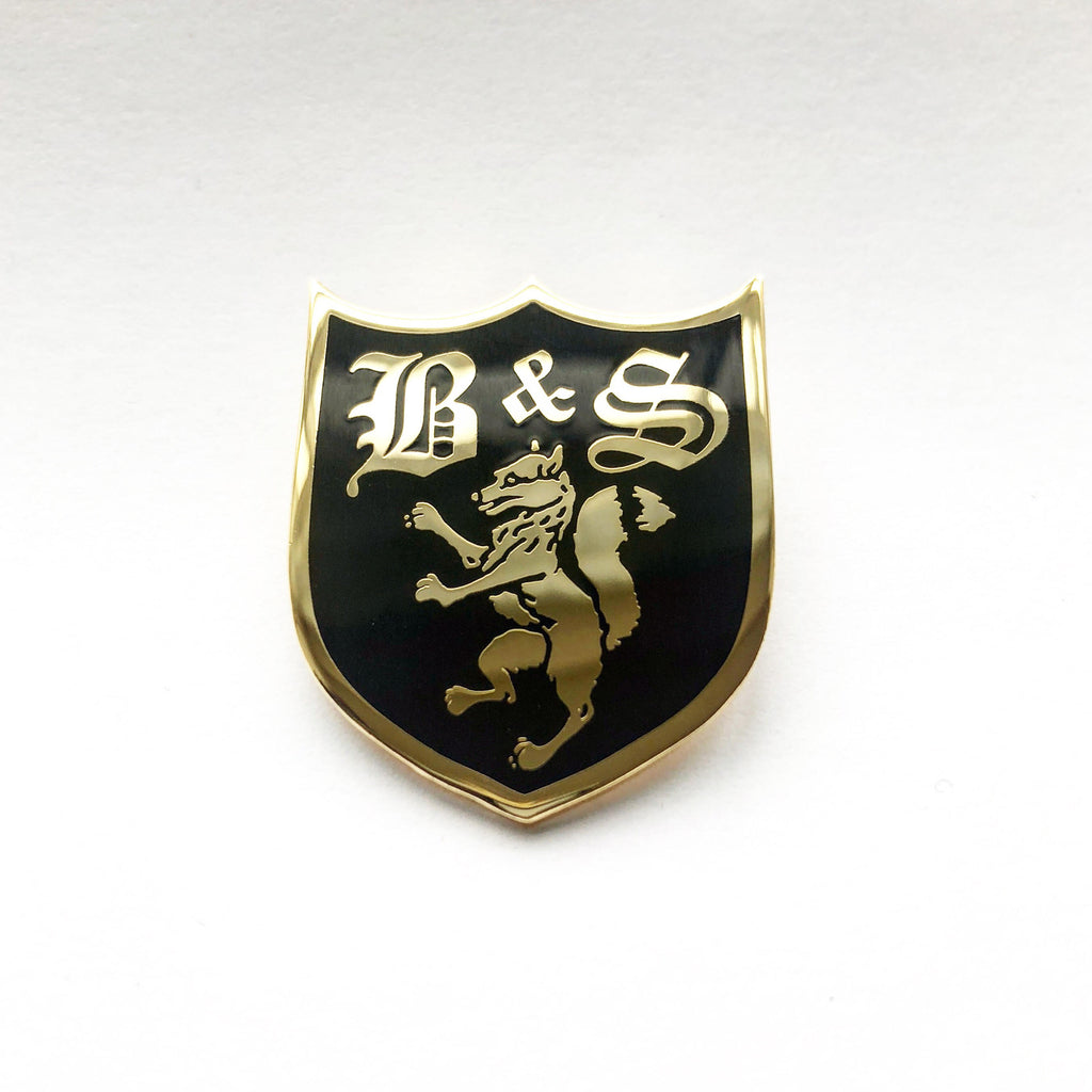 Fox Shield Enamel Badge