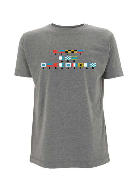 MENS/Unisex Grey 'Nautical Flags' T-Shirt