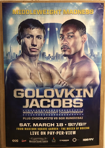 GGG vs Jacobs fight poster.