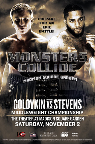 Official GGG vs. Stevens fight poster.