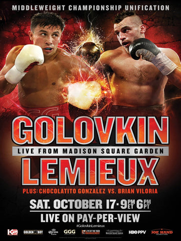 Official GGG vs Lemieux fight poster.