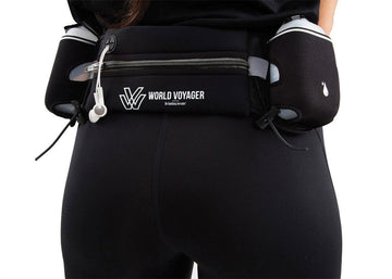 Upgraded Hydration Running Belt with No-Bounce 2.0