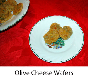 Our Technicolor Christmas Tree & Olive Cheese Wafers