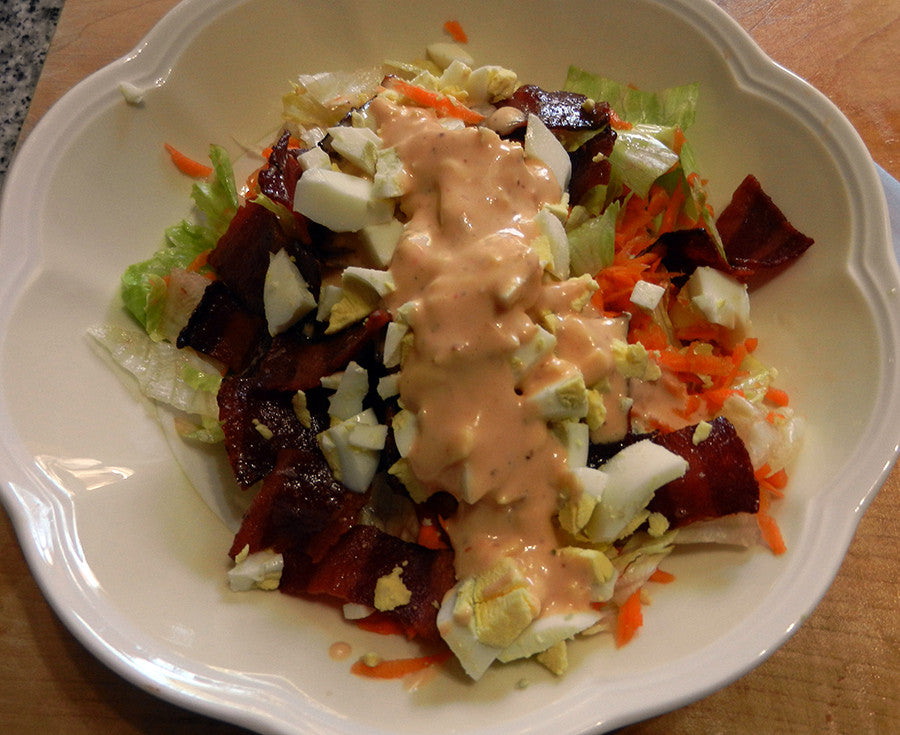 Daddy's Chef Salad with Homemade Salad Dressing